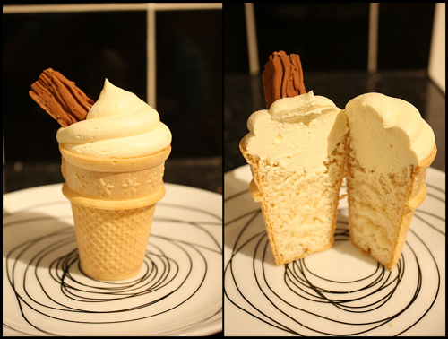 Northern Soul Cupcakes' ice cream cone cupcake