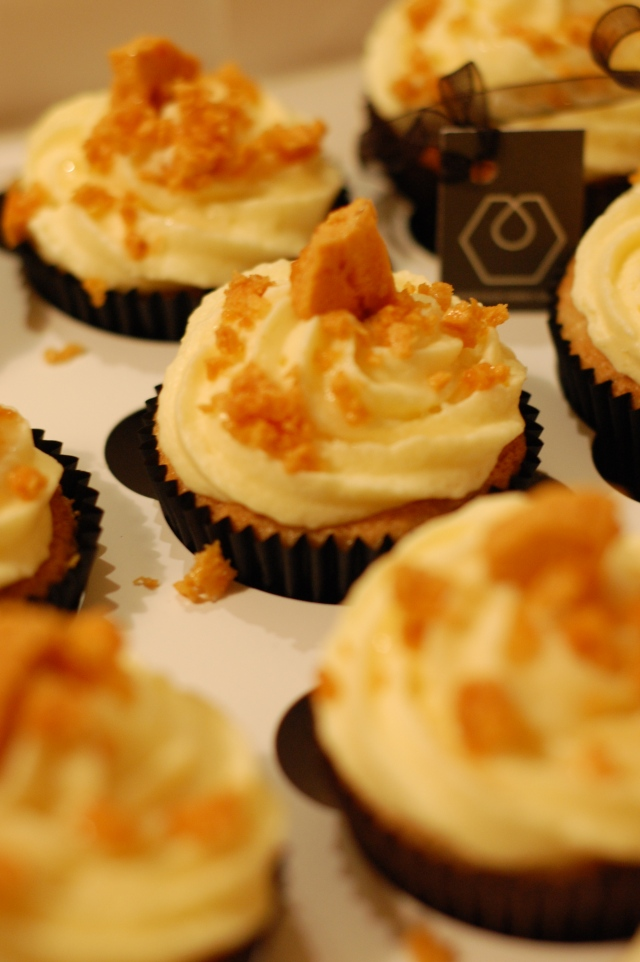 Honey cupcakes with Sheffield Honey Company vanilla honey