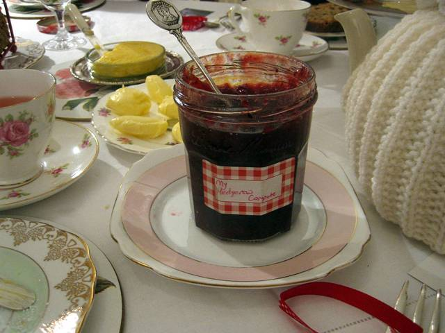 Homemade hedgerow compote