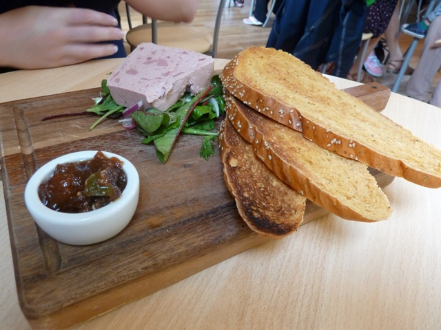 Pate and melba toast