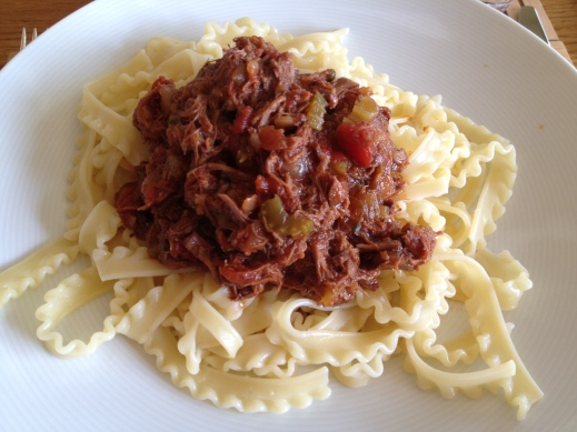 Pork cheek ragu with tripoline